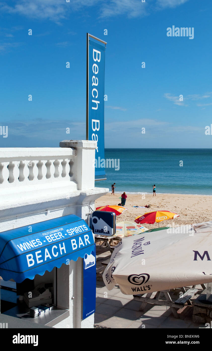 the beach bar and cafe at porthminster beach, st.ives, cornwall, uk - Stock Image