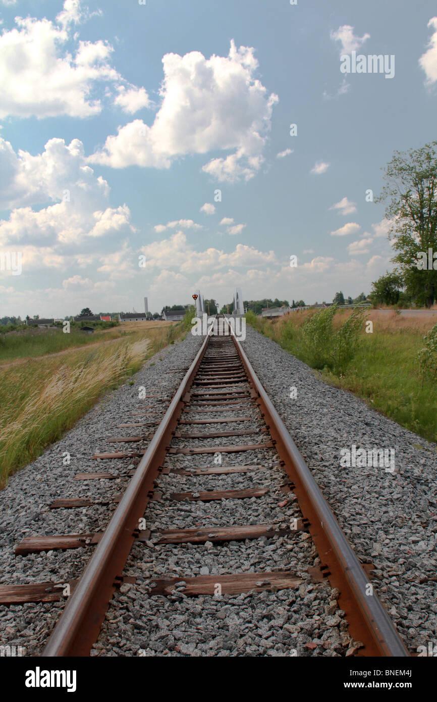 old railtracks - Stock Image