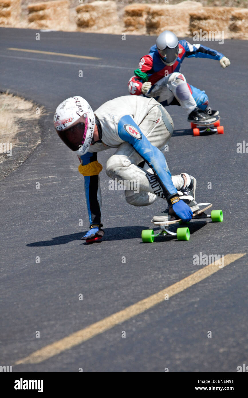 Skateboarders competing,  IGSA World Cup Series, - Stock Image