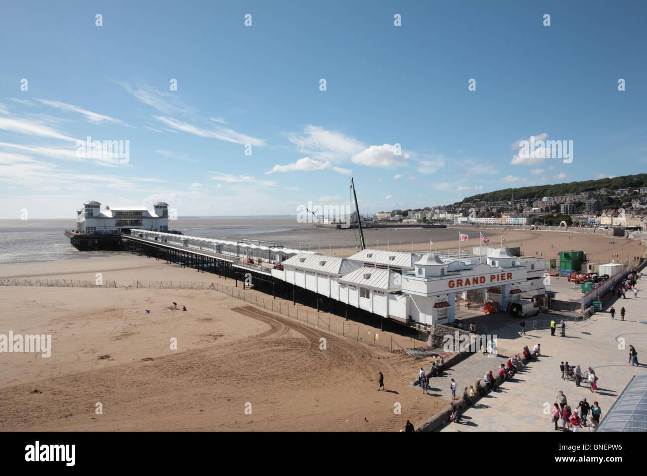 The rebuilt Grand Pier, Weston-Super-Mare - Stock Image