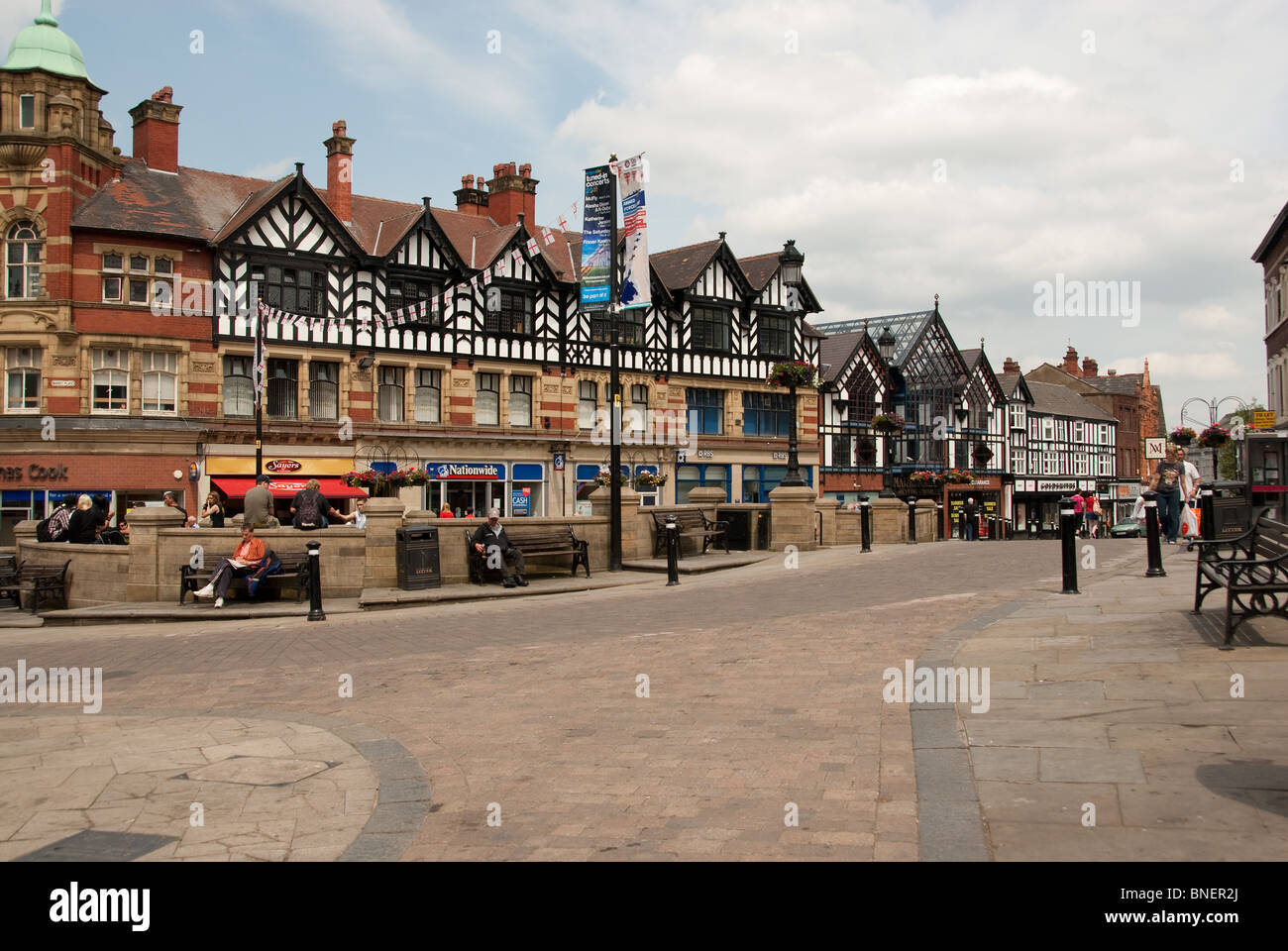 Wigan Town Center - Stock Image