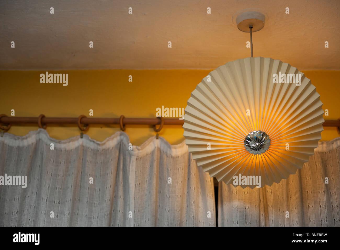 Circular lamp shade stock photos circular lamp shade stock images circular lamp shade hanging from ceiling uk stock image aloadofball Gallery