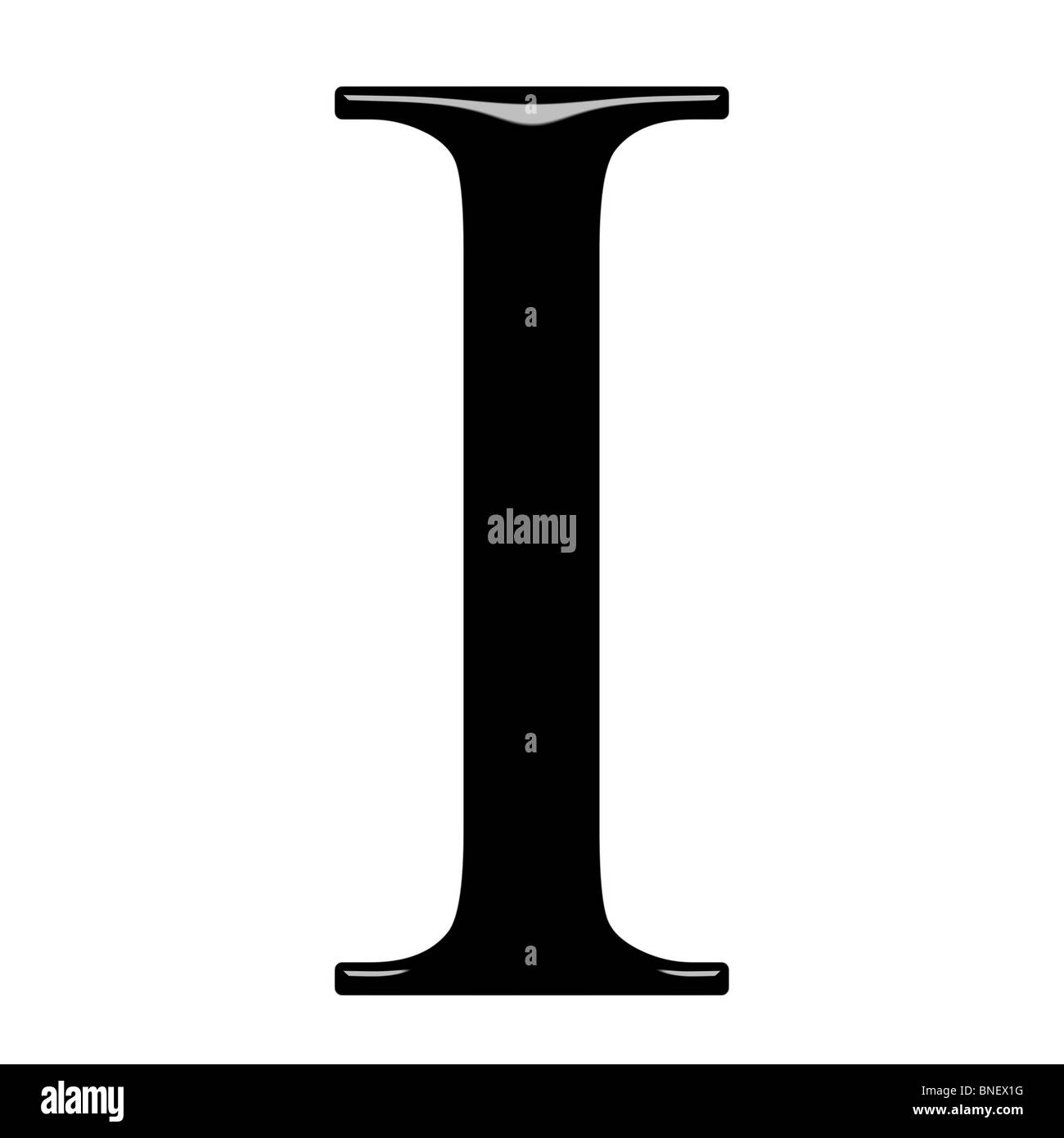 3d Greek letter Iota Stock Photo: 30445900   Alamy