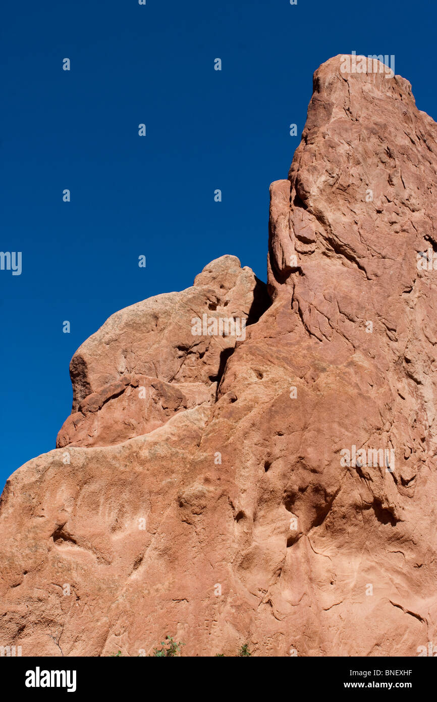 red rock  formation garden of the gods colorado springs - Stock Image
