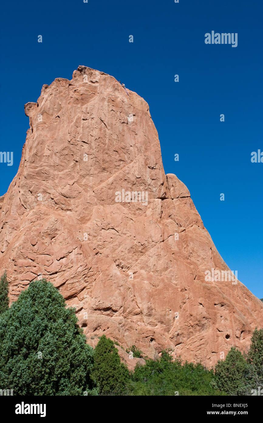 Rock formation in Garden of the Gods Colorado Springs - Stock Image