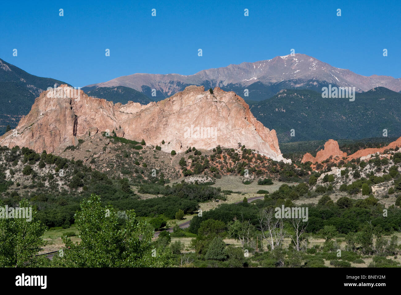 Garden of the Gods Colorado Red Rock formations - Stock Image