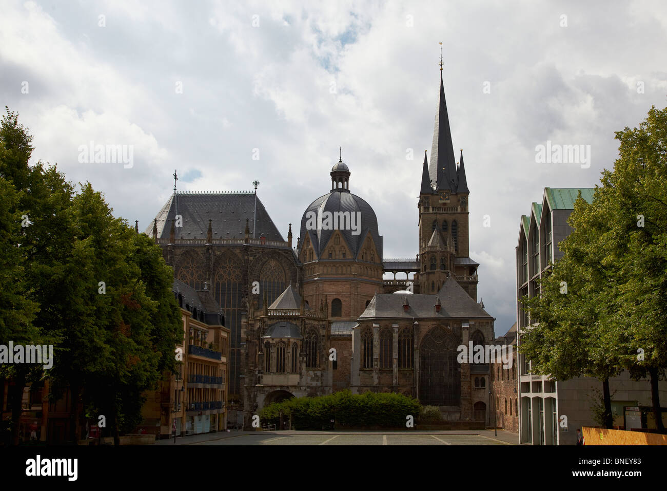 The cathedral in Aachen, Germany Stock Photo
