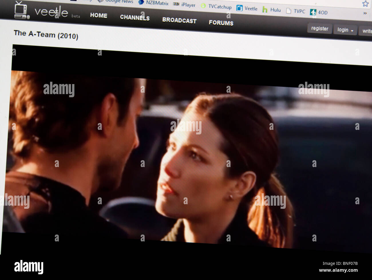 Veetle Internet TV broadcast website Stock Photo: 30447631 - Alamy