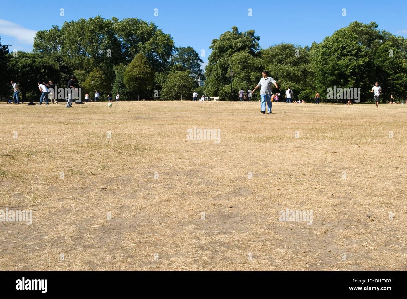 Heat wave, dry summer Hyde Park London Uk - Stock Image