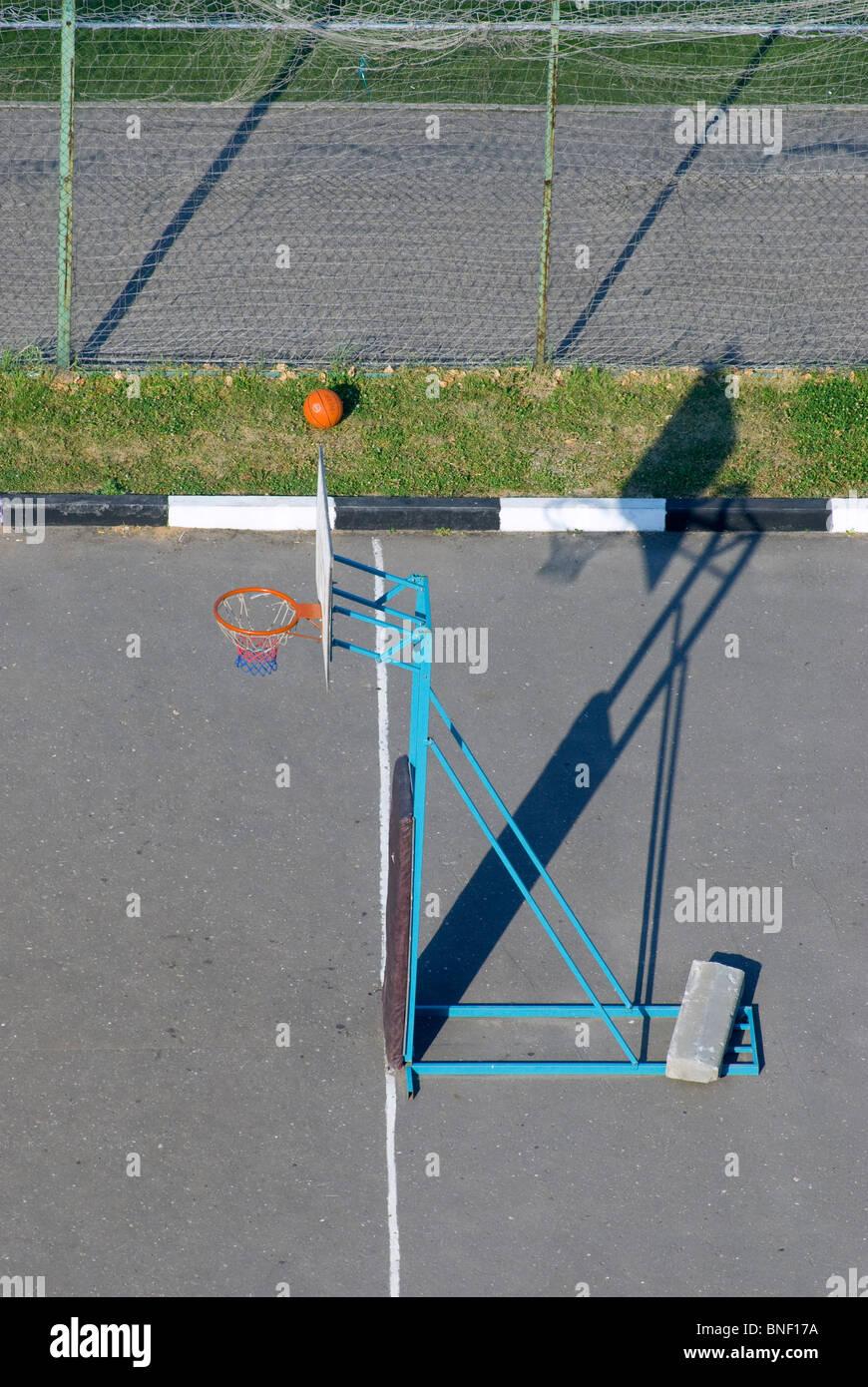 Street basketball sporting area Stock Photo
