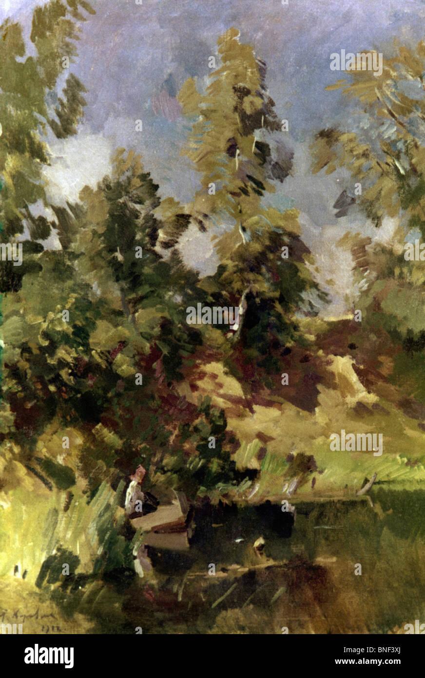 Wind by Konstantin Alekseevic Korovin, 1916, 1861-1939 - Stock Image