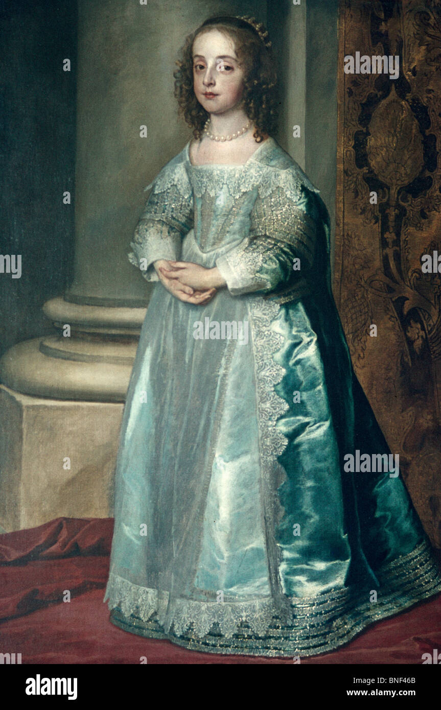Mary Stuart by Anthony van Dyck, (1599-1641) - Stock Image