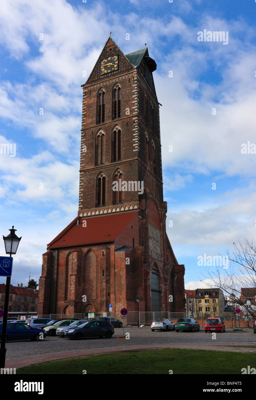 Main Church in Wismar, Germany - Stock Image