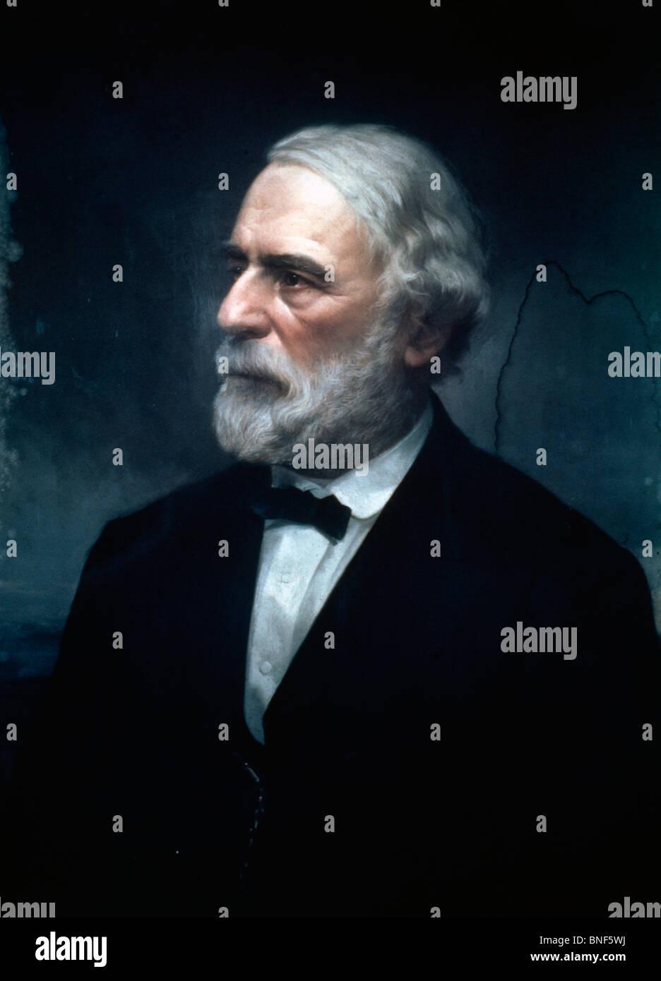 Robert E. Lee, artist unknown, 1860s - Stock Image