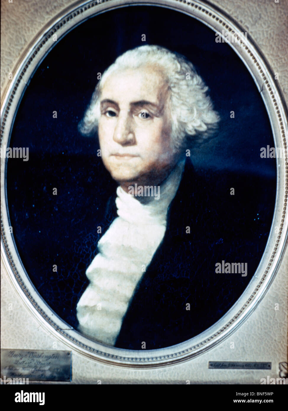George Washington by Gilbert Stuart, (1755-1828) Stock Photo