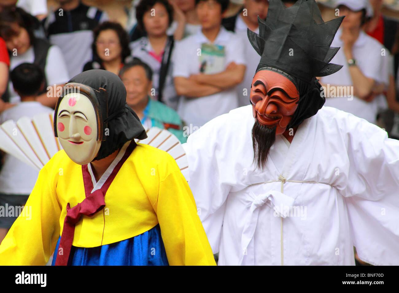 Andong mask dance Stock Photo