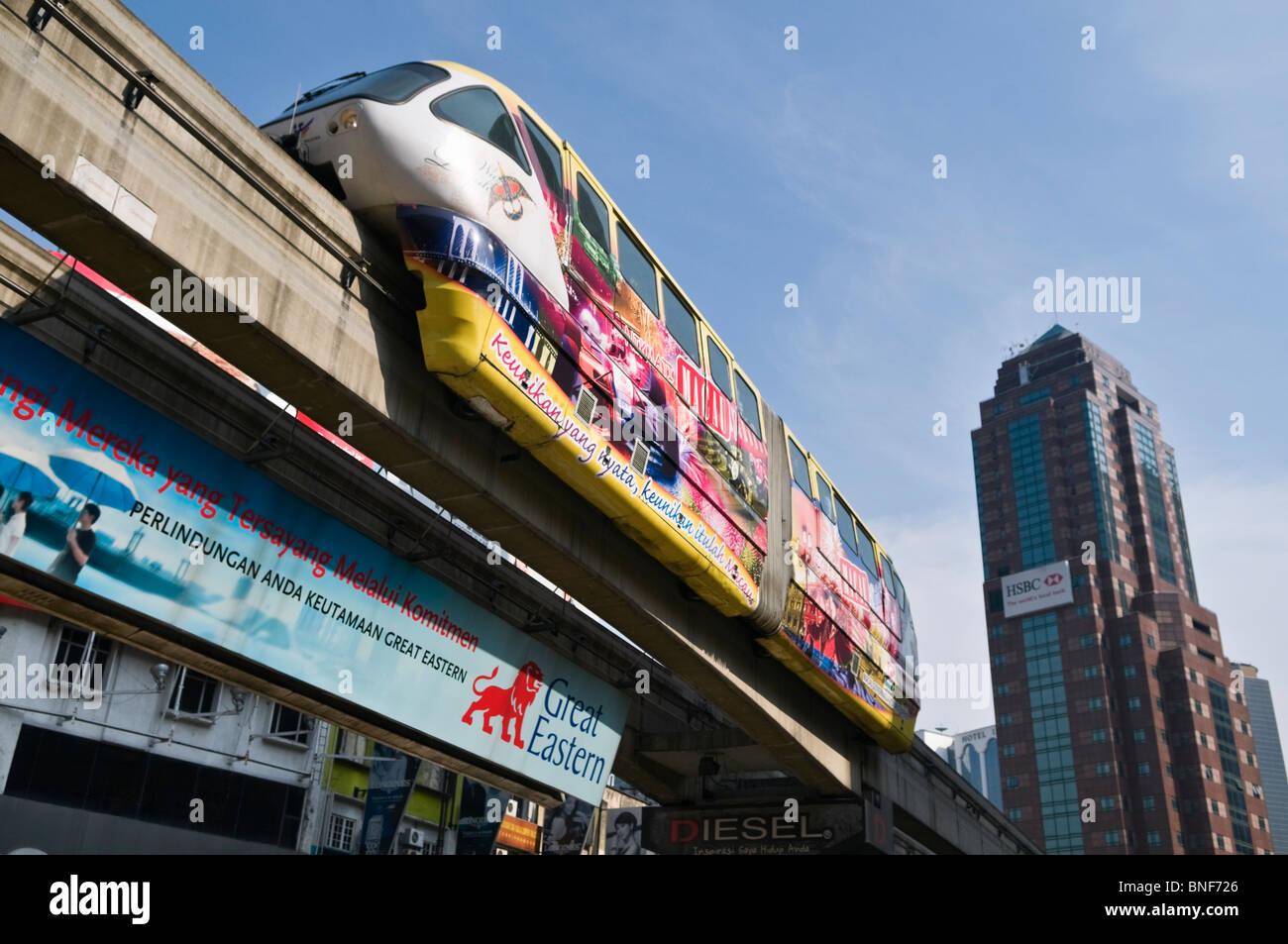 KL Monorail Kuala Lumpur Malaysia - Stock Image