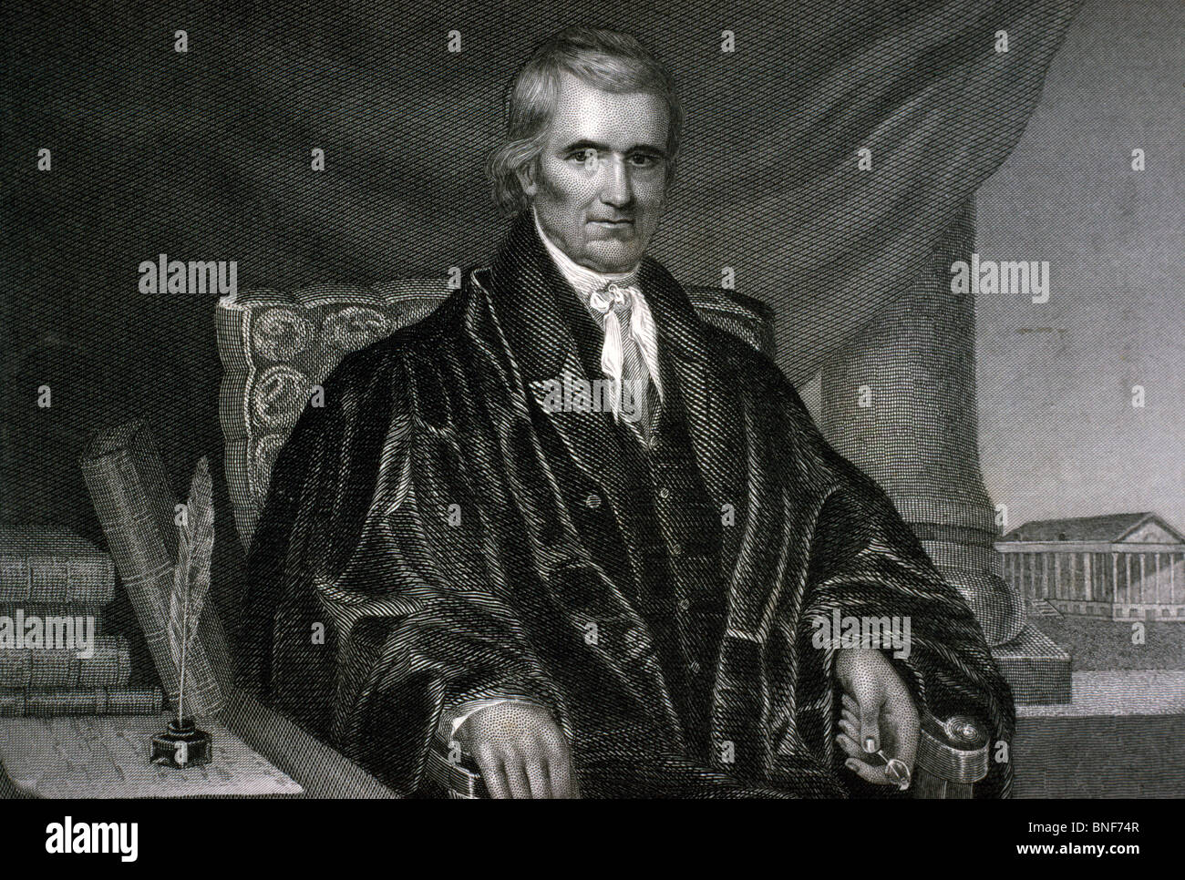 Chief Justice John Marshall, US Supreme Court, American History - Stock Image