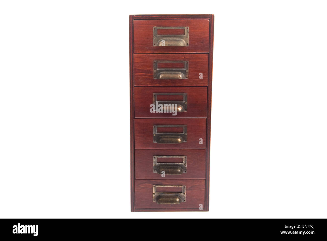 Antique six drawer oak library file card cabinet with brass label holders isolated over white background  sc 1 st  Alamy & Old Wood File Cabinet Stock Photos u0026 Old Wood File Cabinet Stock ...