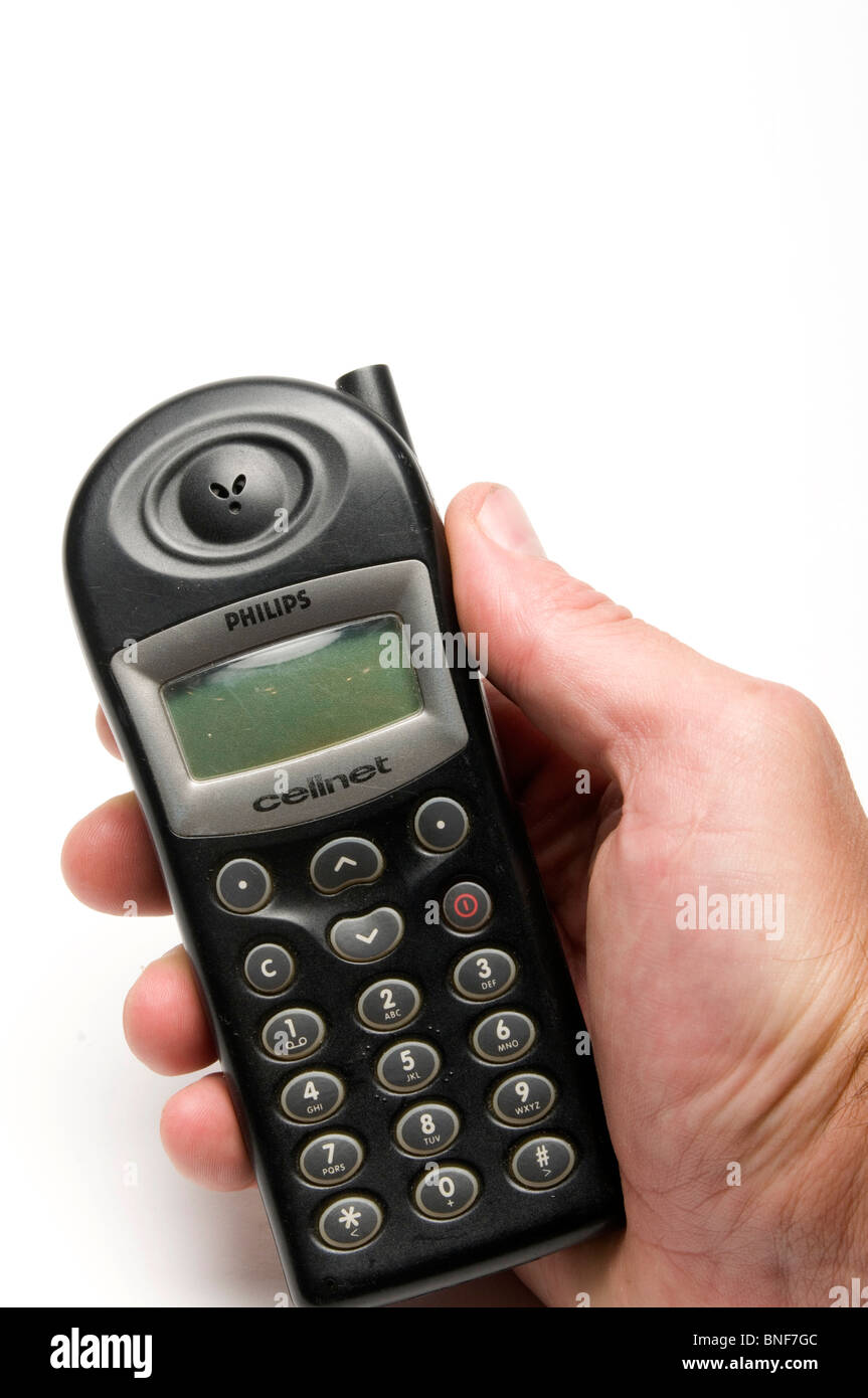 old mobile phone phones cell cellphones cellphone retro fashion fashioned style design style Stock Photo