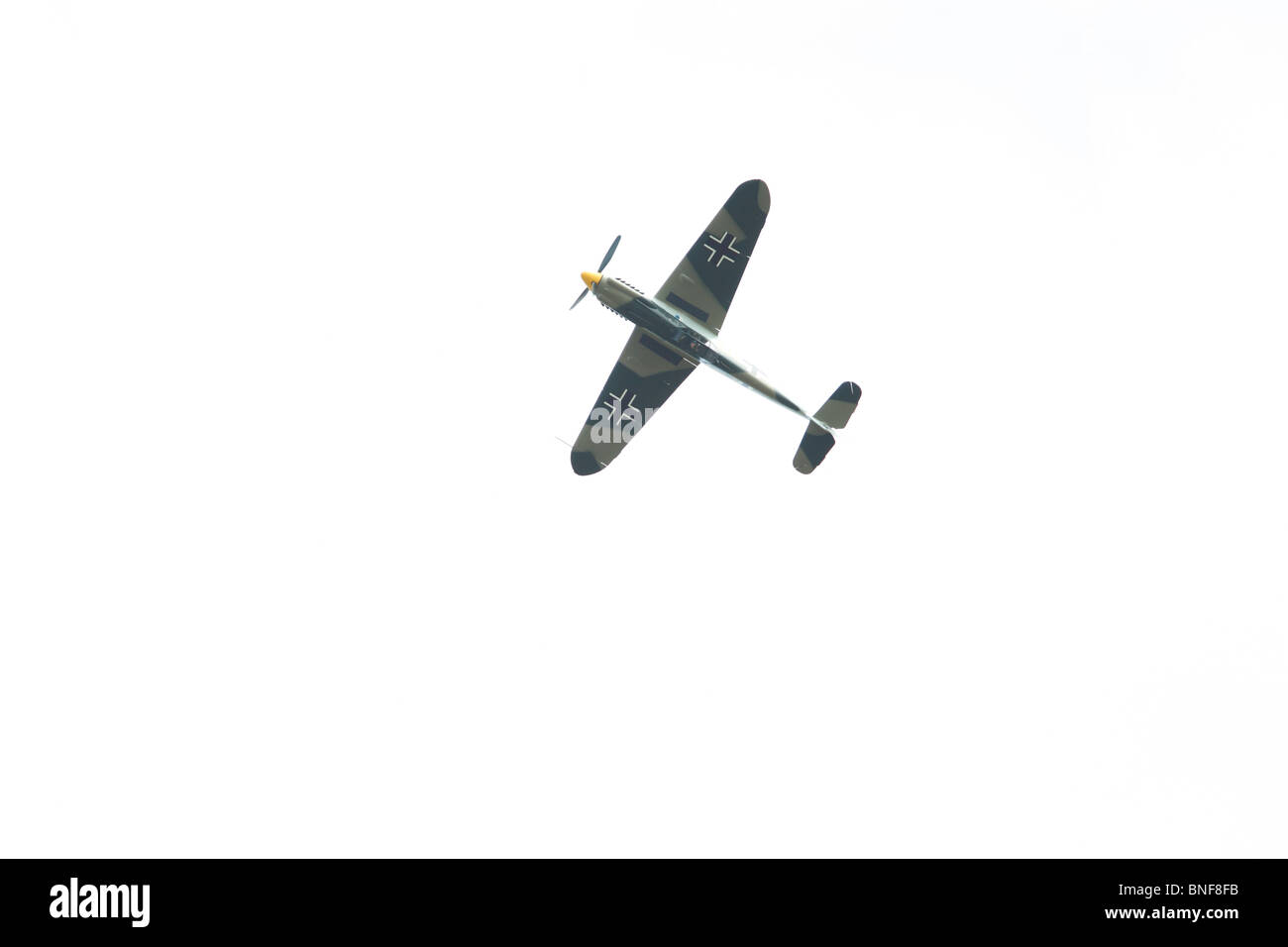 Messerschmidt Me109, Lincoln, International Airshow. This is actually a Hispano Aviacion HA-1112 Buchon which is - Stock Image
