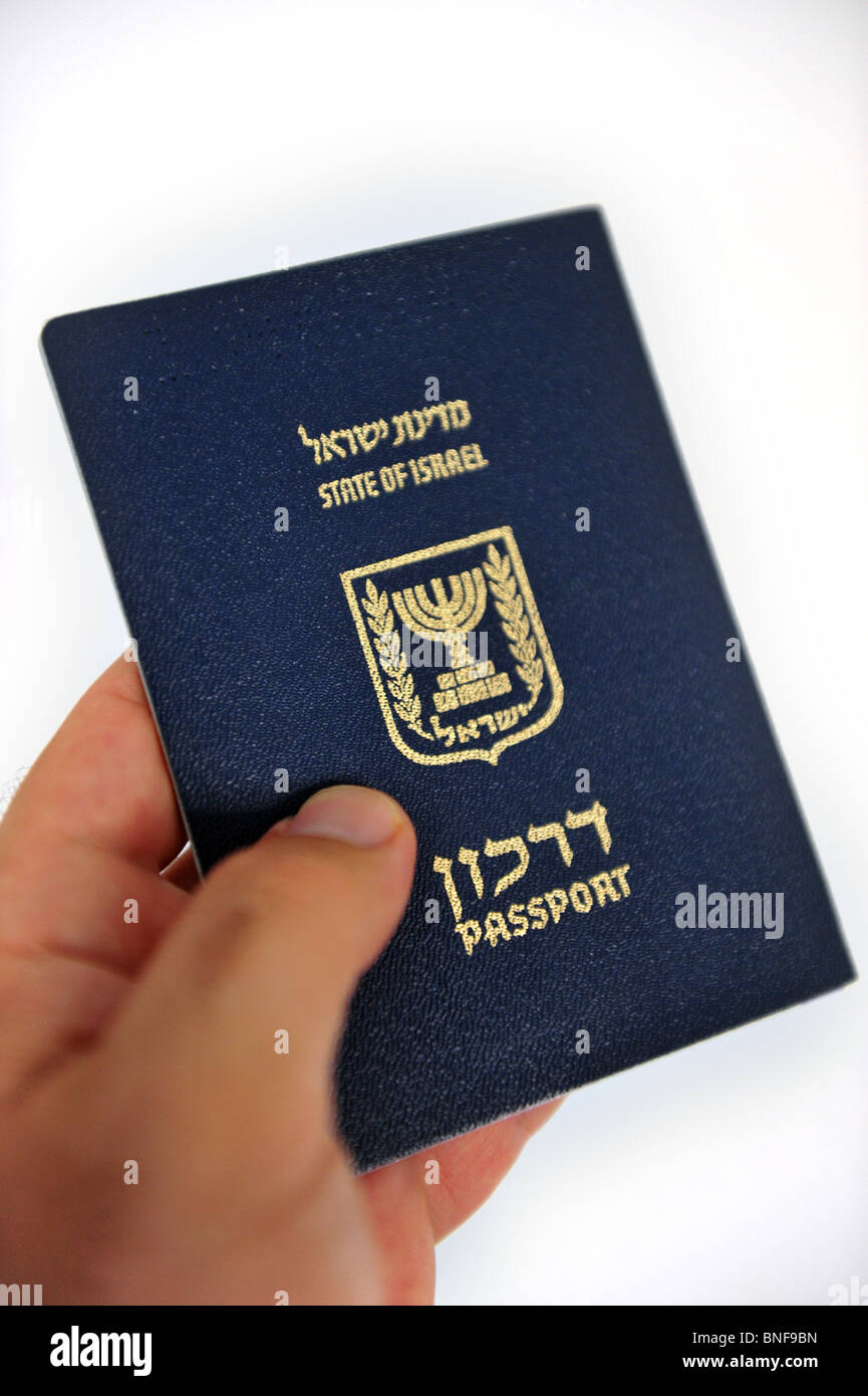 Israeli passport Passports and Immigration Permits Israel travel documents and citizenship Stock Photo