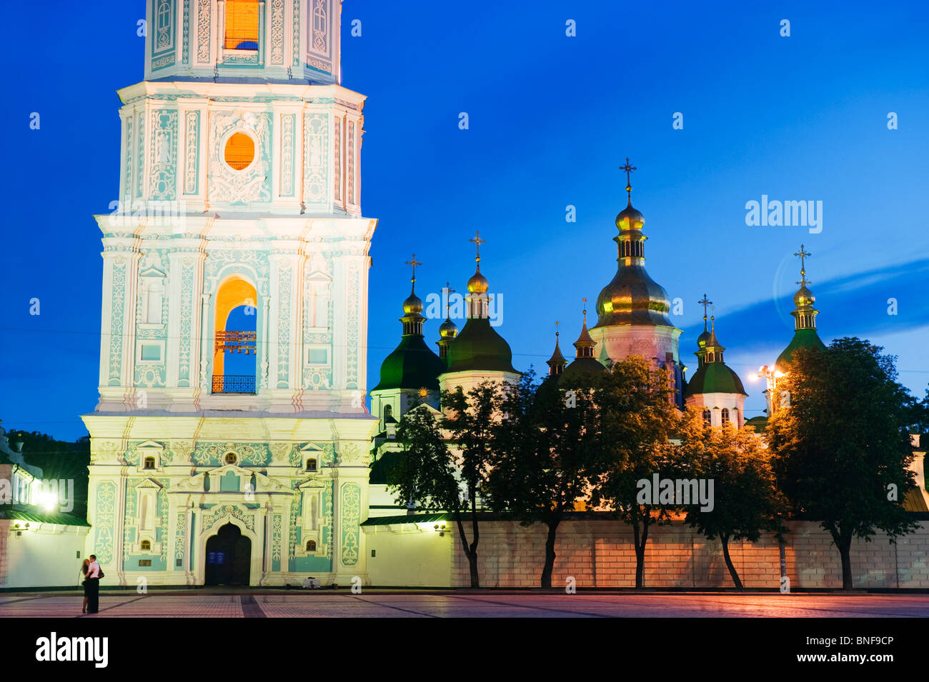 St Sophias Cathedral, with baroque style domes and bell tower, Unesco World Heritage Site 1990 Kiev, Ukraine, Eastern - Stock Image