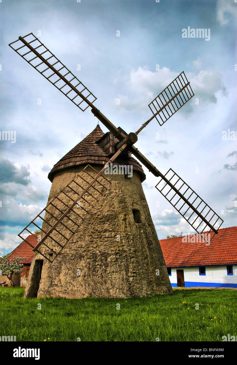 Old windmill - Stock Image
