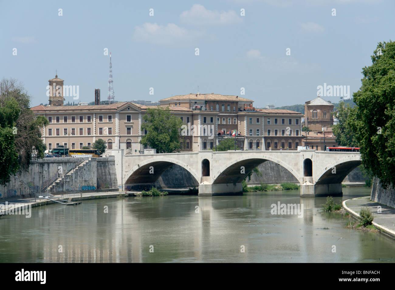Ponte Principe Amedeo and Ospedale di Santo Spirito - Stock Image