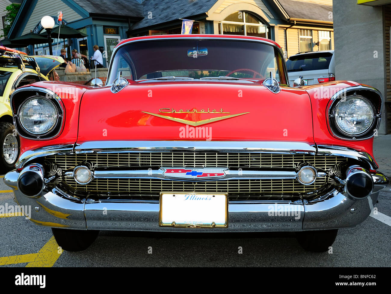 1957 Chevrolet Belair Stock Photos Chevy Bel Air Station Wagon Beautifully Restored Image