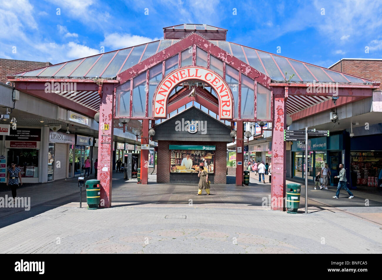 Sandwell Shopping Centre West Bromwich - Stock Image