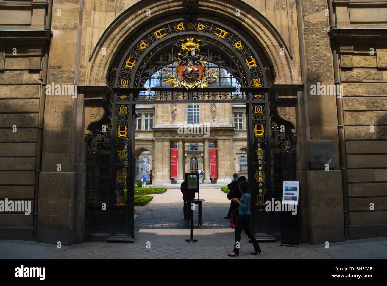Carnavalet Museum Le Marais district central Paris France Europe - Stock Image