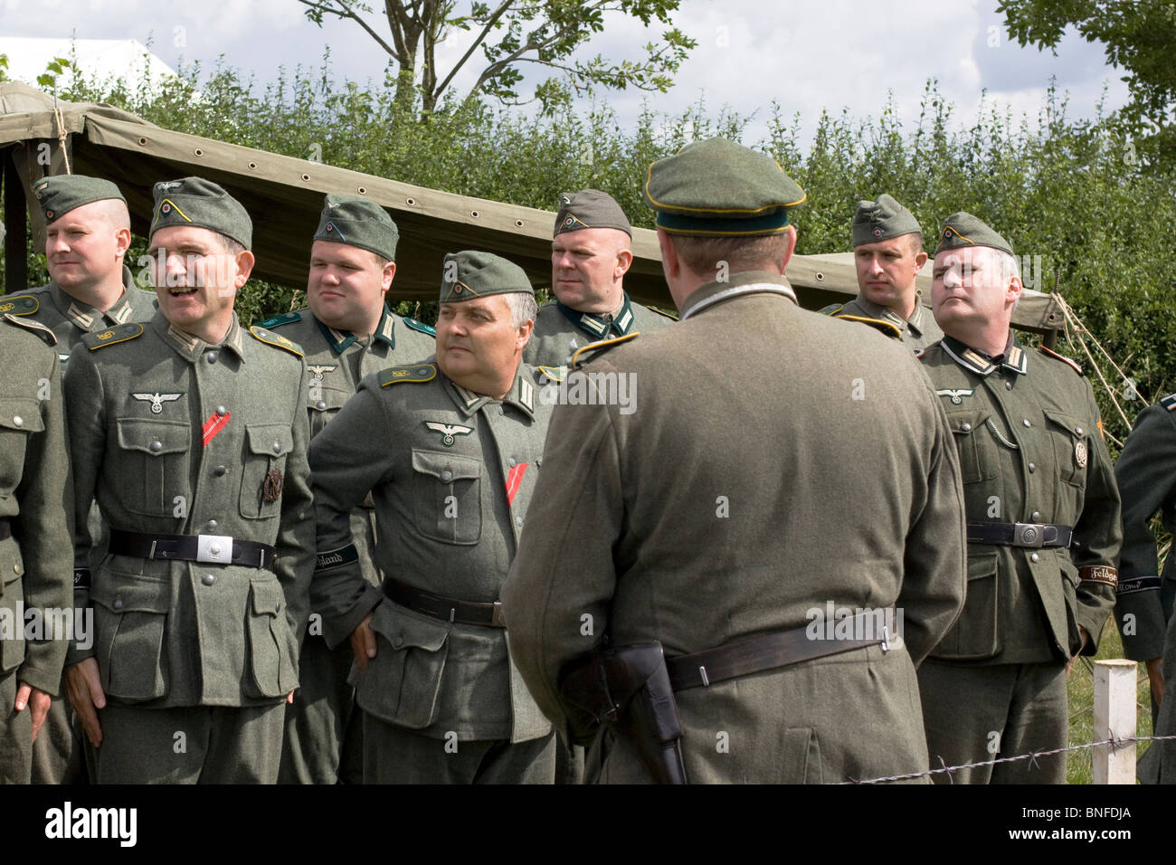 A reenactment of the German army - Stock Image