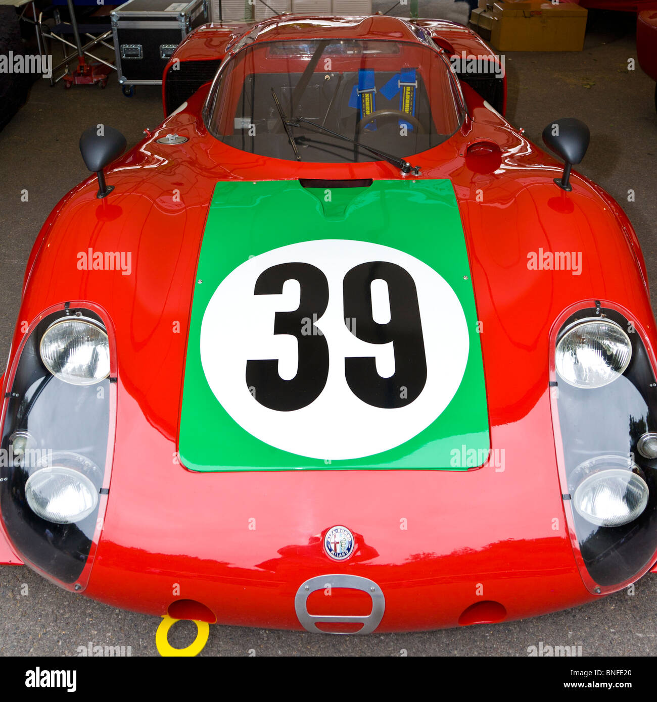 1968 alfa romeo tipo 33 2 le mans in the paddock at the 2010 stock photo 30458456 alamy. Black Bedroom Furniture Sets. Home Design Ideas