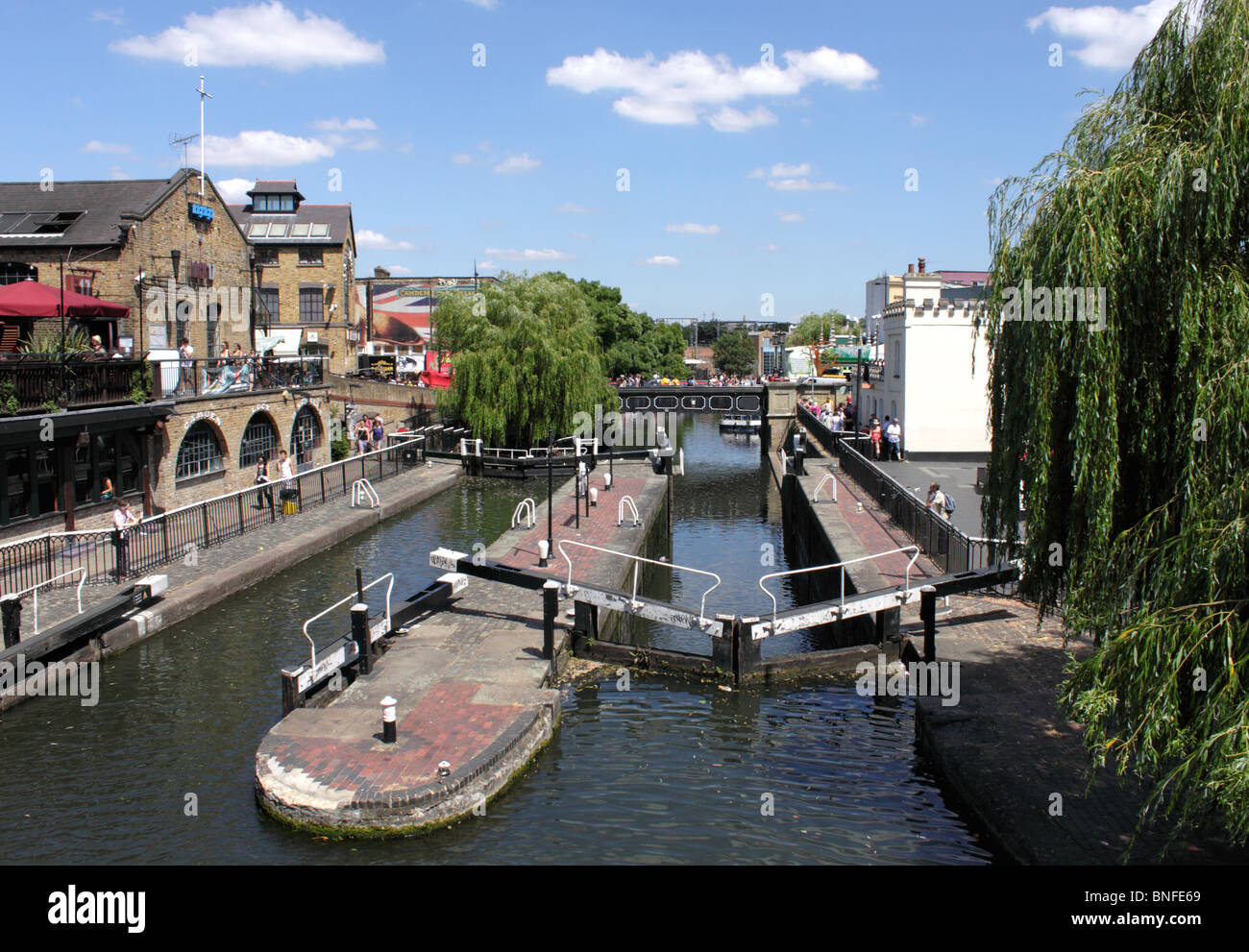 Regents Canal and Camden Lock London summer 2010 Stock Photo