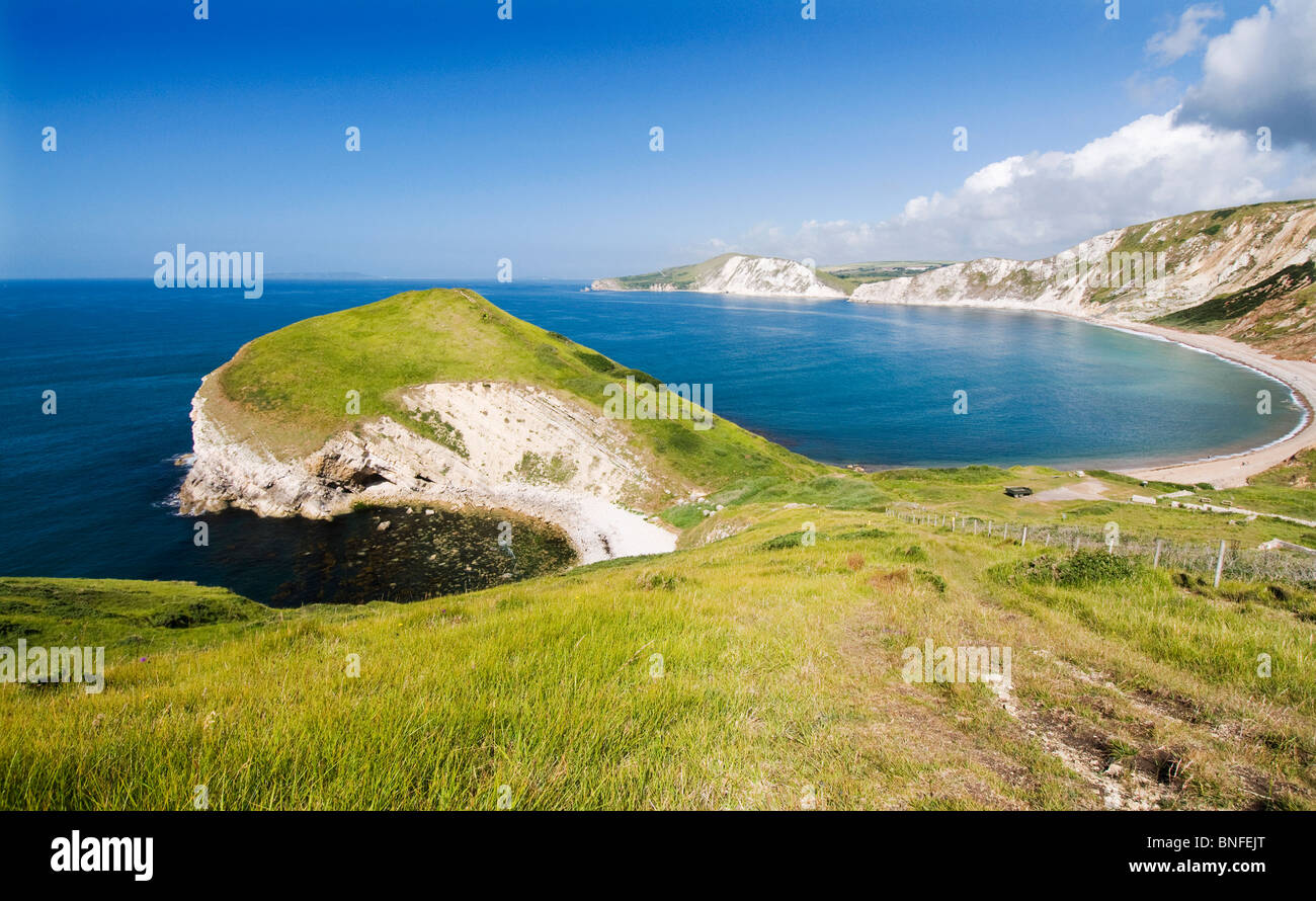 Worbarrow bay on the Isle of Purbeck, Dorset - Stock Image