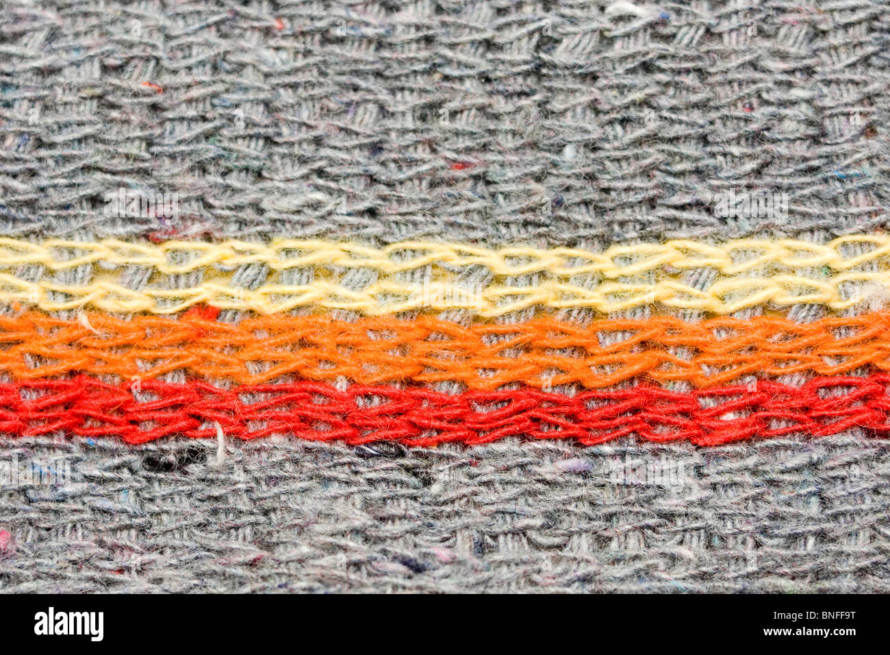 Mop texture macro, with color stripes - Stock Image