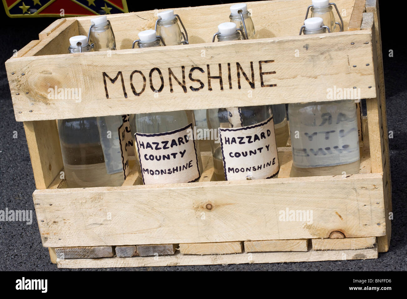 Moonshine on Show at Santa Pod raceway - Stock Image