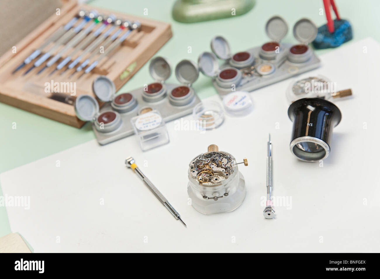 Lange und Soehne GmbH: manufacture for precious watches in Glashuette, Germany Stock Photo