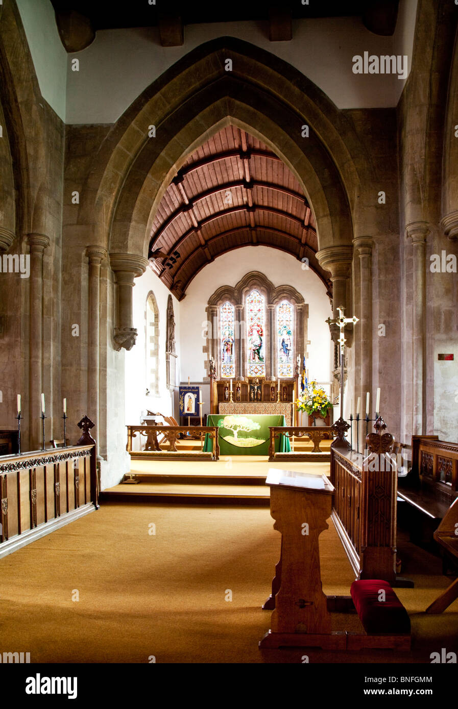 Interior Of Church The Holy Cross A Typical English Village In Sherston