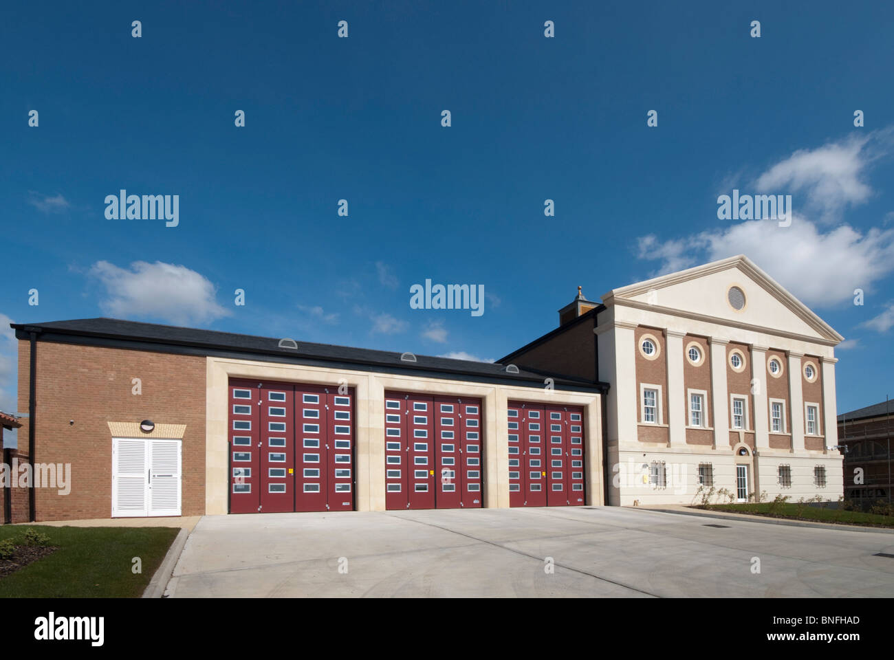 Dorset Fire and Rescue Service,  Station and HQ, Poundbury - Stock Image