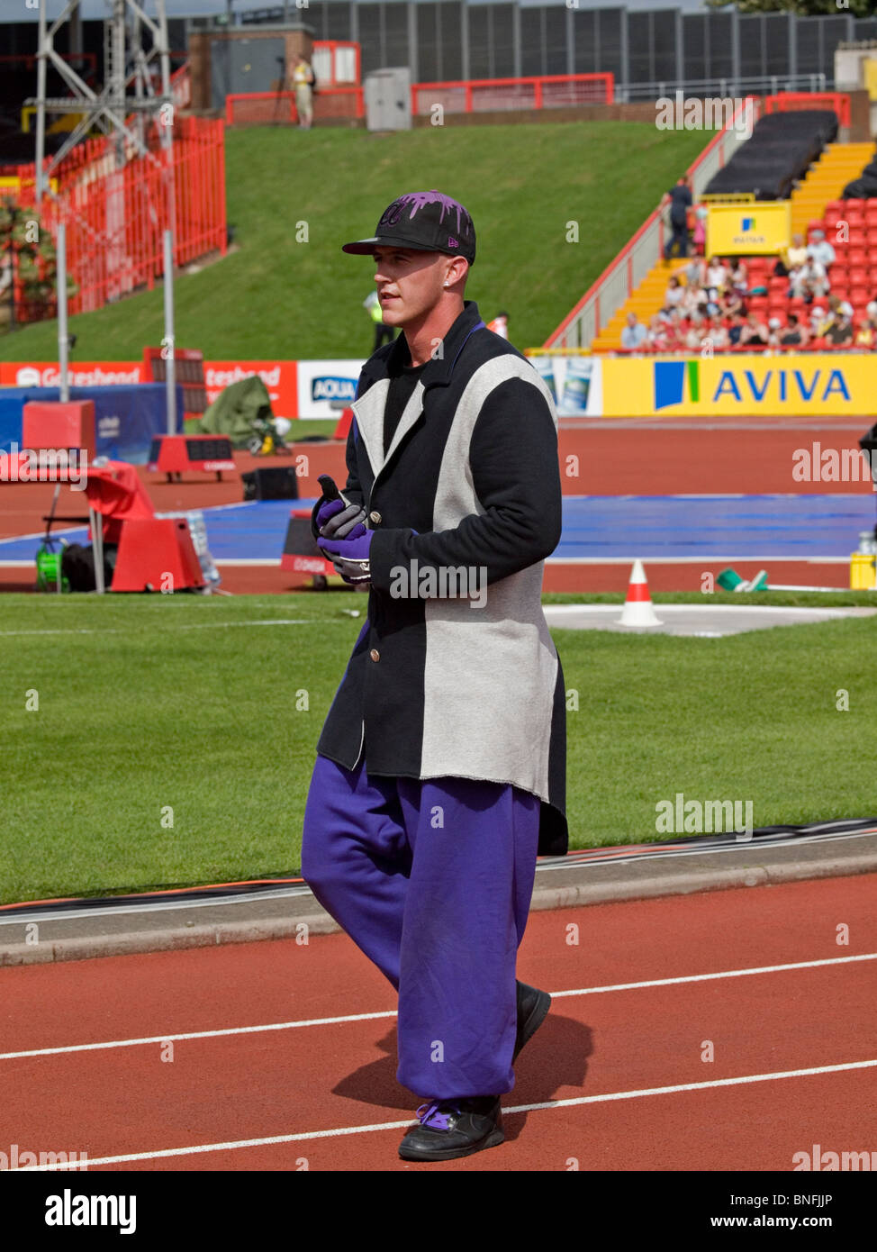 A dancer from diversity after dancing at the IAAF Diamond League in Gateshead 2010 - Stock Image