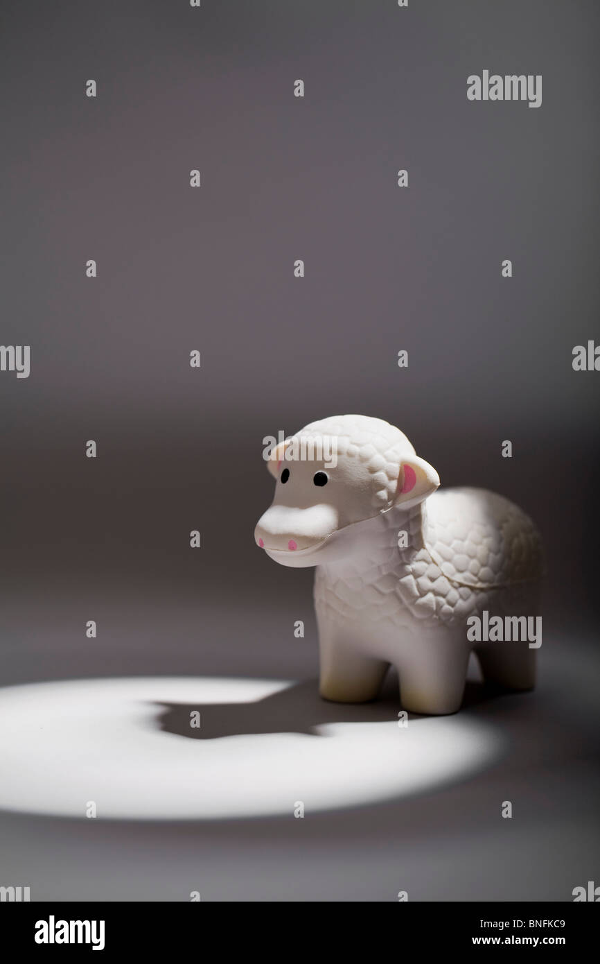 Foam Lamb Figurine - Stock Image