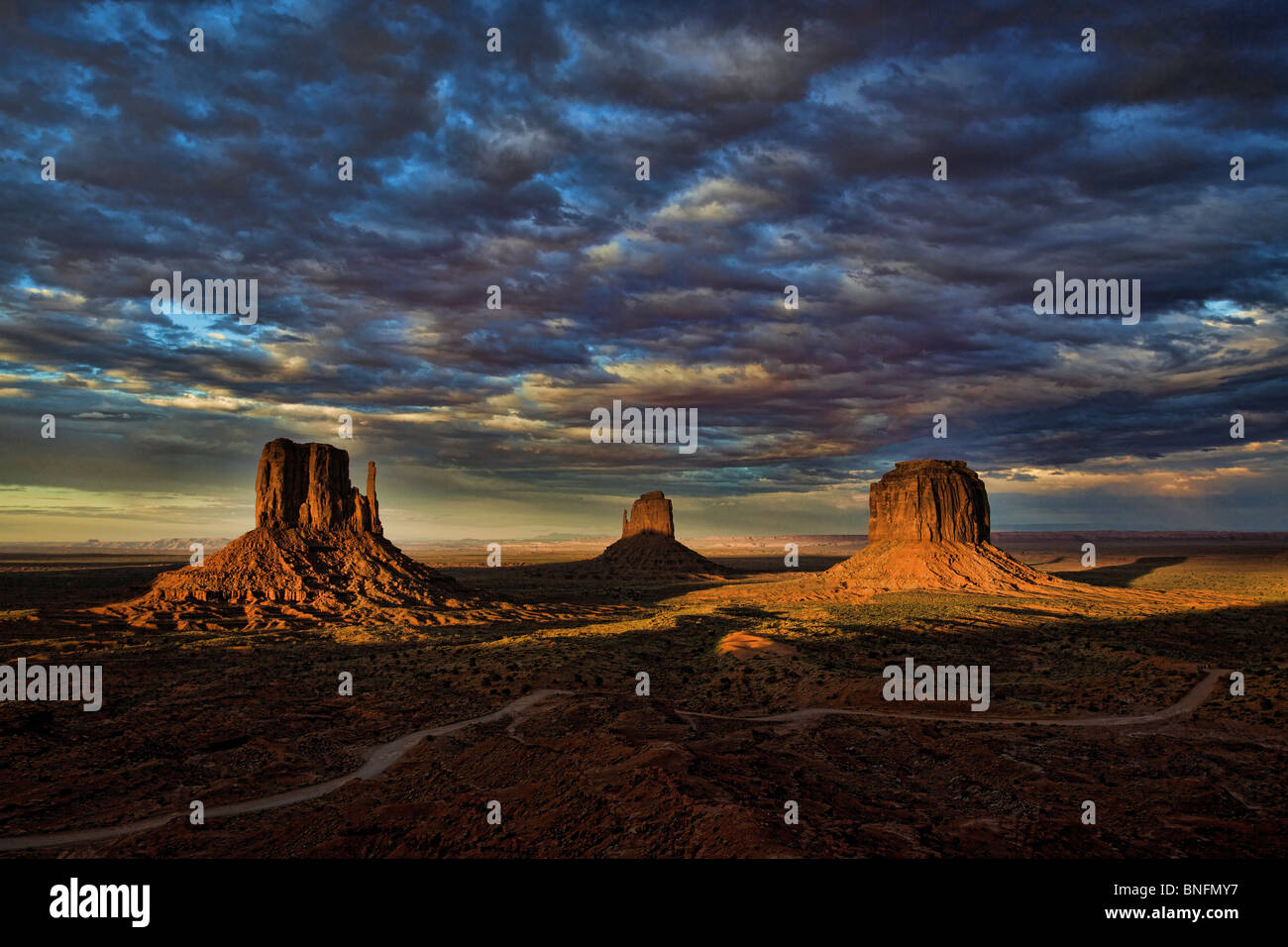After The Storm in HDR, Monument Valley Mittens - Stock Image