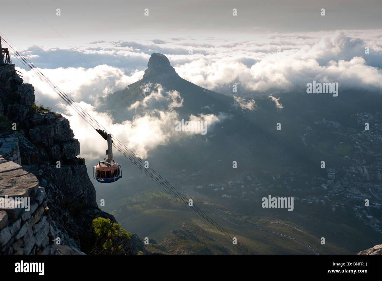 View from Table Mountain cape Town South Africa - Stock Image
