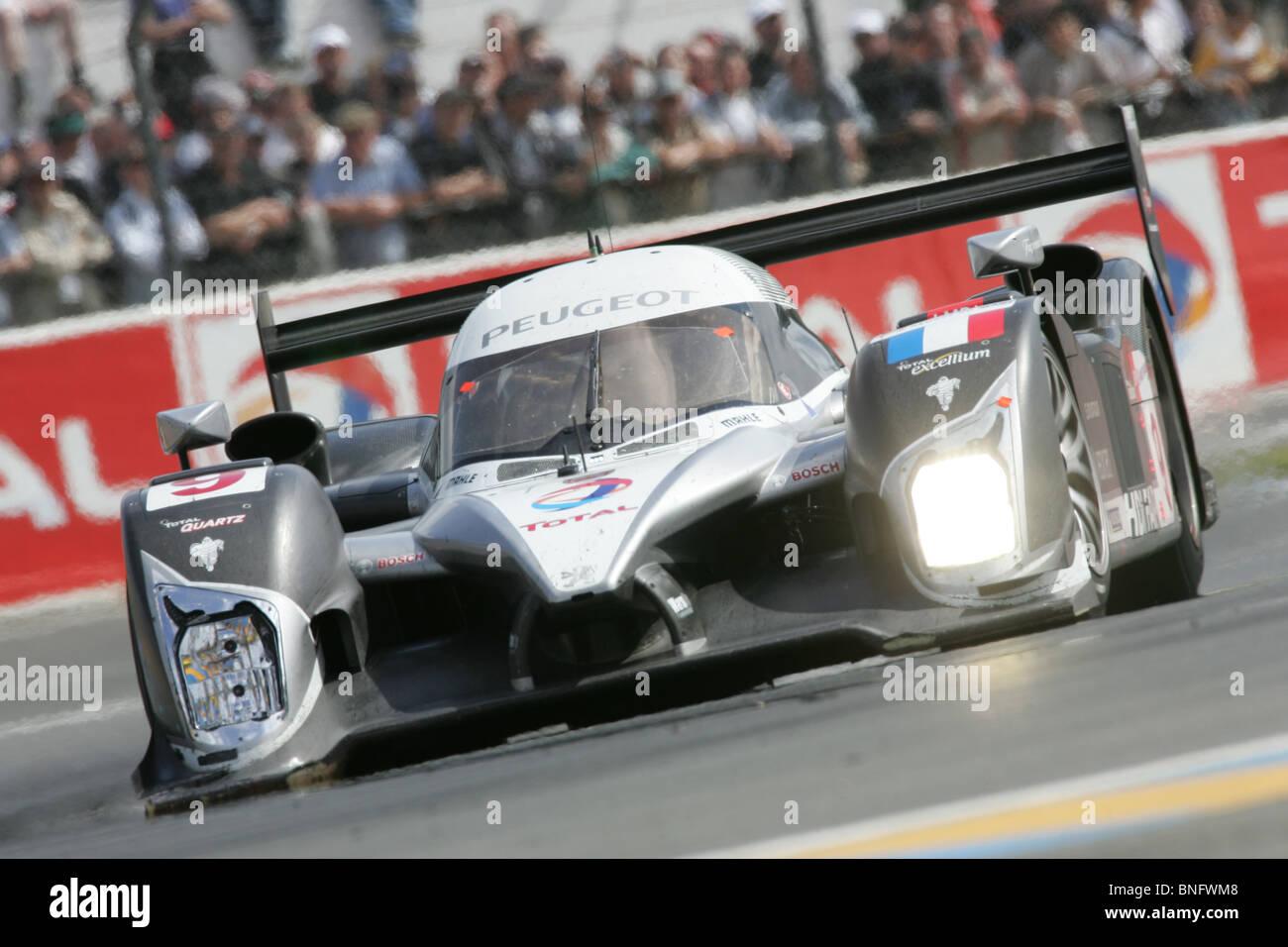 Peugeot LMP1 Sportscar Le Mans 24 Hours. Stock Photo