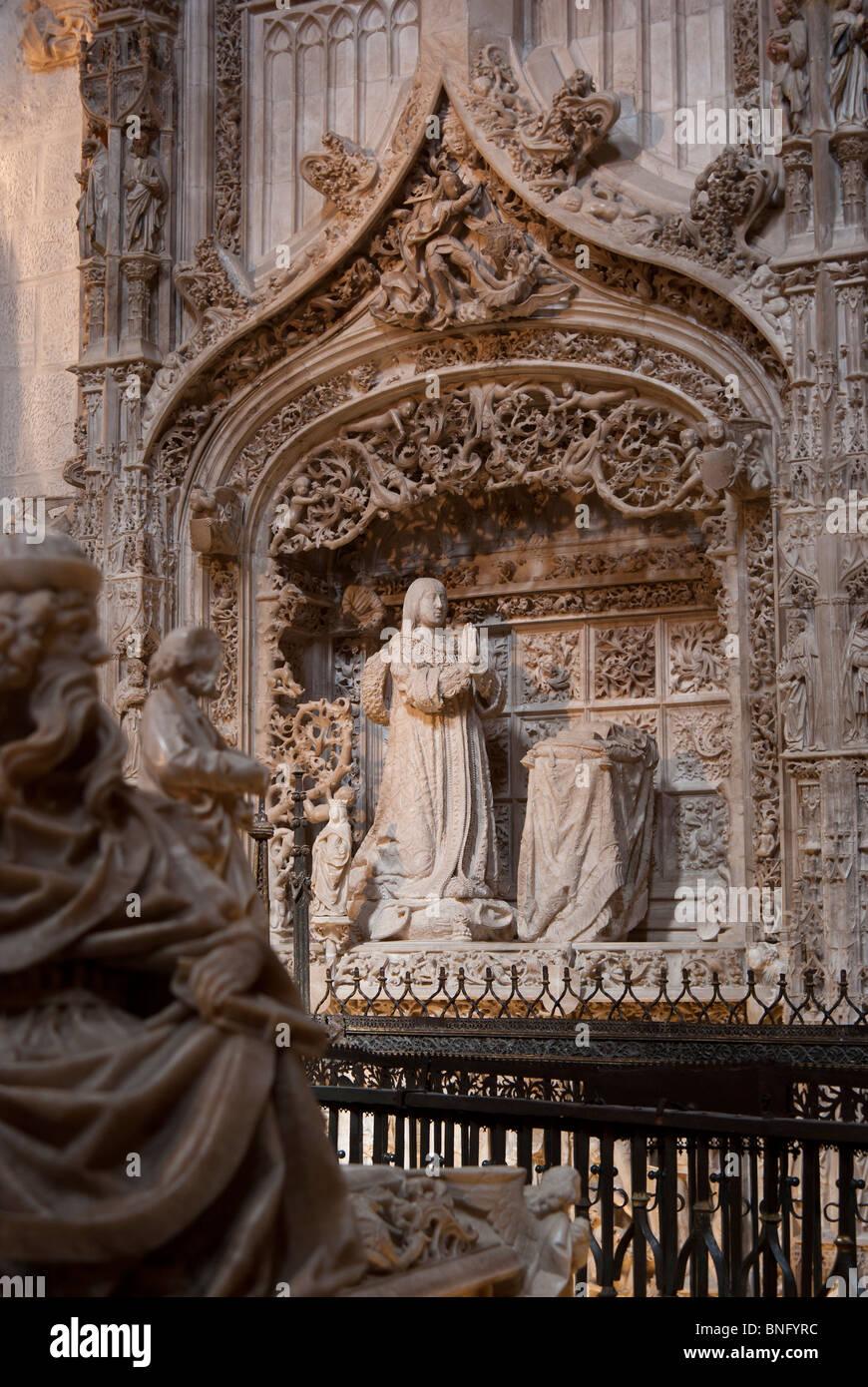 Burgos cartuja de miraflores Stock Photo