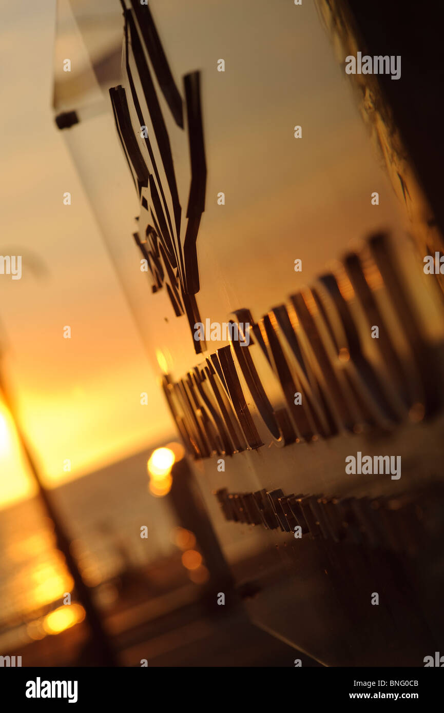 sunset Summer evening, Gwesty Cymru 5 star hotel and restaurant, Aberystwyth Ceredigion Wales UK - Stock Image