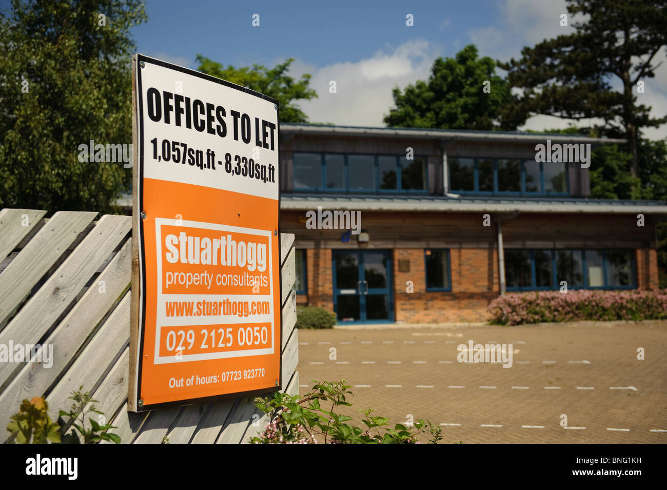 Empty offices to let on Aberystwyth Science park Wales UK - Stock Image