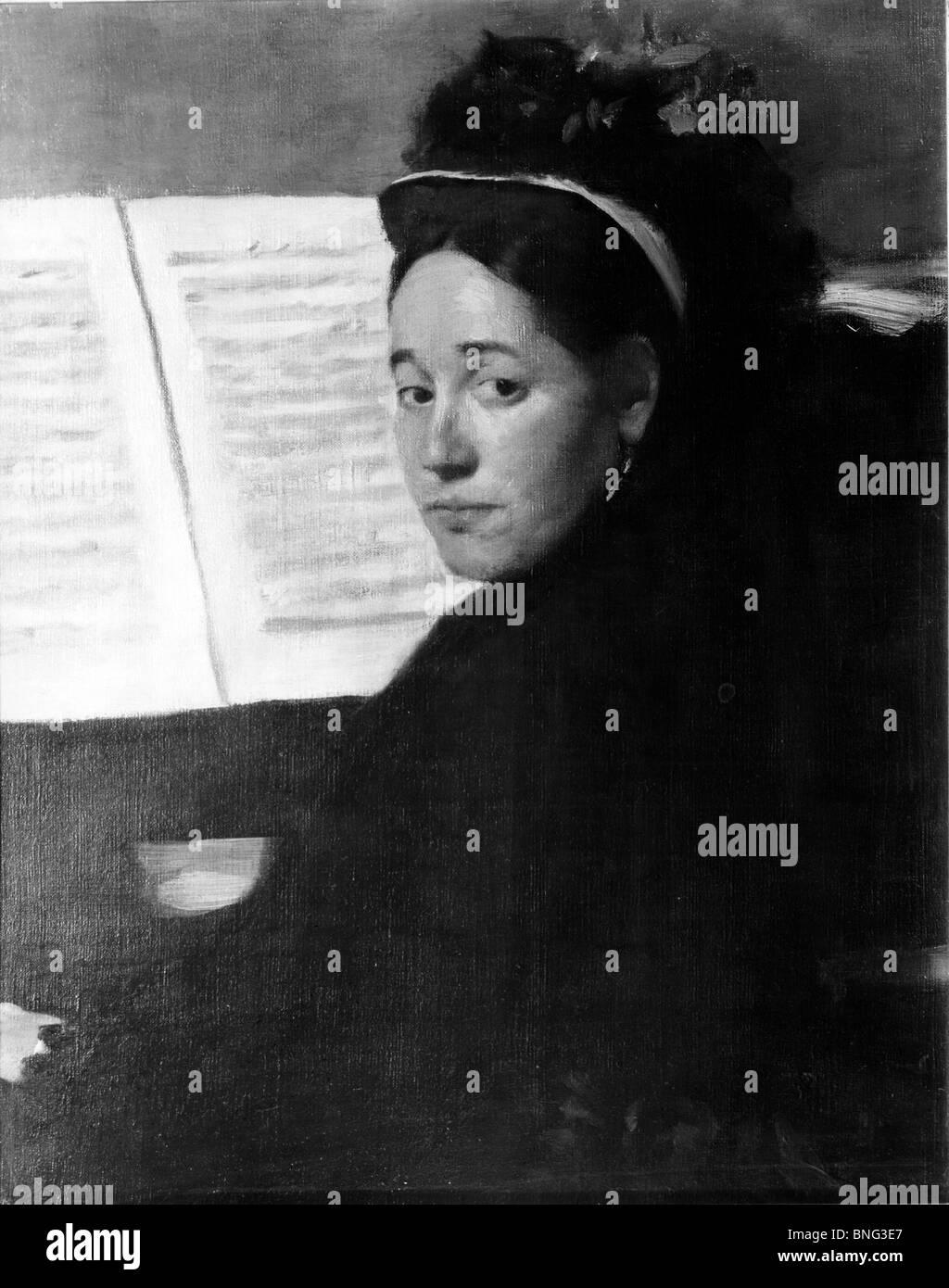 Miss Dihan at the Piano by Edgar Degas, 1834-1917 - Stock Image